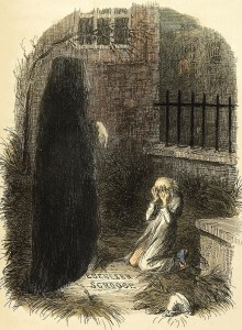 The Last of the Spirits (from A Christmas Carol), John Leech, 1843 (cropped)