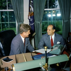Chep Morrison and some other guy in the Oval Office, June 13, 1961