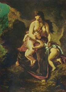Medea About to Kill Her Children (Delacroix, 1862)