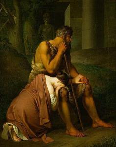 Oedipus and Antigone (Johann Peter Krafft, 1809)