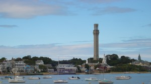 View of Provincetown, Massachusetts from harbor
